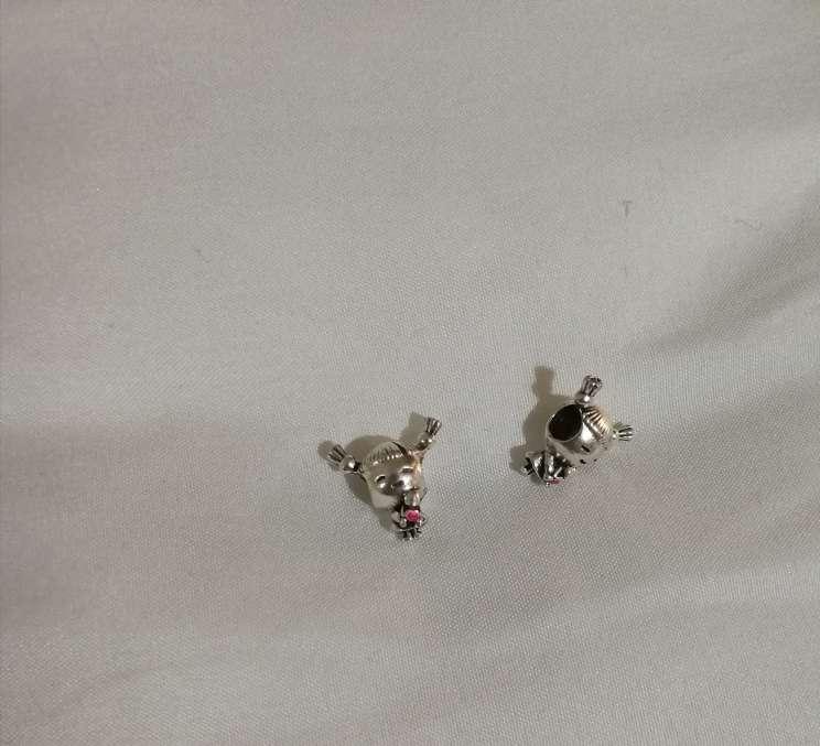 Imagen producto Charms Niña para pulsera de Pandora bañado en plata  5
