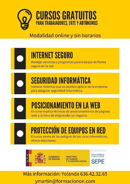 Imagen cursos gratuitos del SEPE