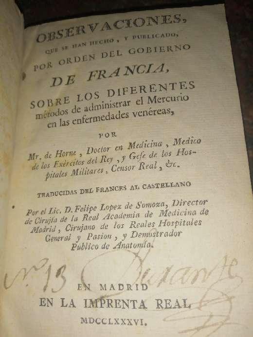 Imagen Se vende libro del año 1.780