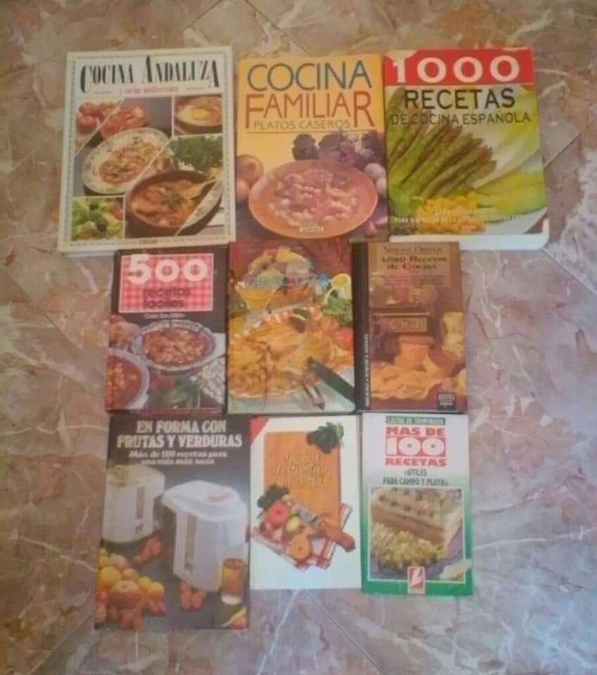 Imagen Lote de libros de recetas y postres