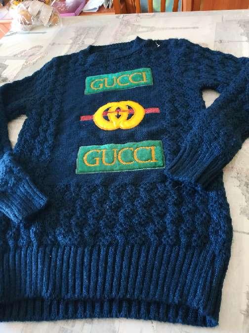 Imagen Jersey de lana azul verdoso