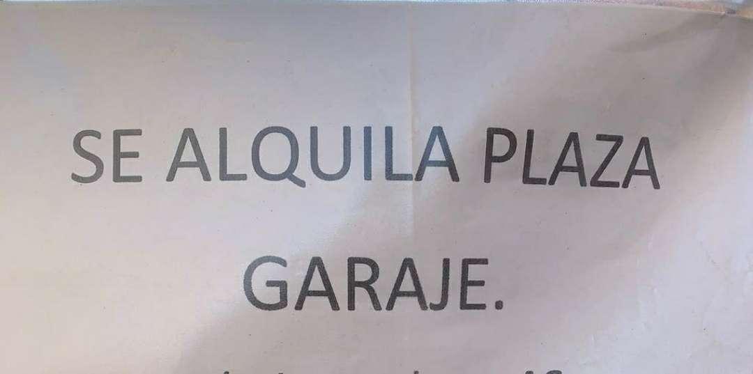 Imagen Se Alquila Plaza De Garaje