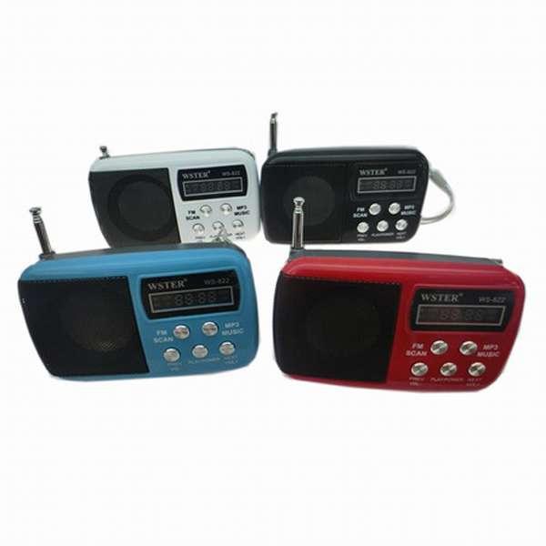 Imagen Transistor radio FM con slot para tarjeta y memoria usb
