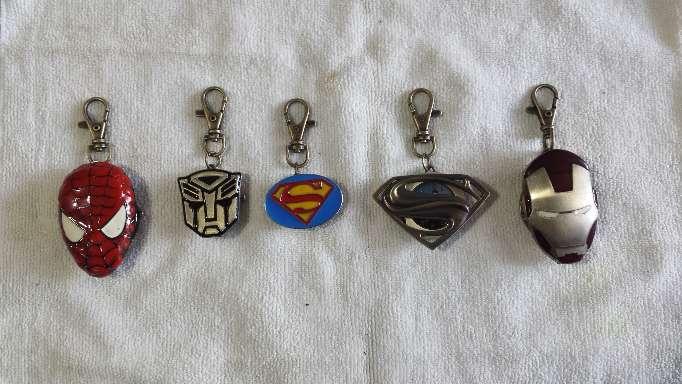 Imagen Relojes llaveros superheroes 5 piezas