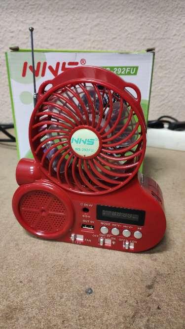 Imagen Altavoz con radio FM ventilador y power bank