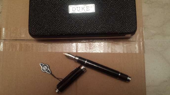 Imagen producto Pluma estilografica marca DUKE corte recto 4