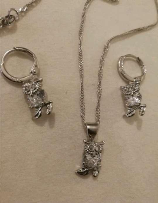 Imagen Colgante y Pendientes Búho de la Suerte de Plata 925, ideal como regalo