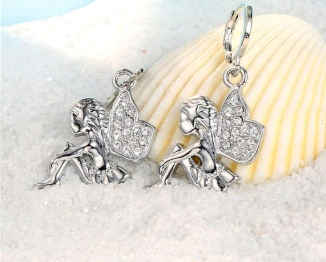 Imagen producto Colgante y Pendientes de Hadas de Plata, el regalo ideal  3