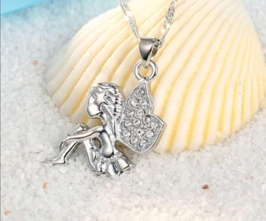Imagen producto Colgante y Pendientes de Hadas de Plata, el regalo ideal  2