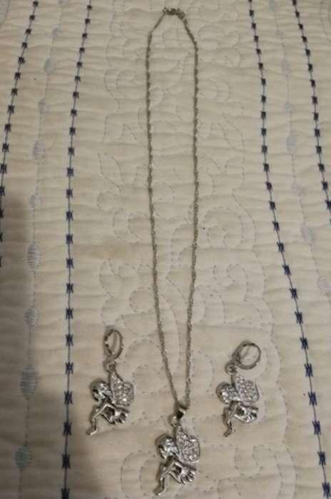 Imagen producto Colgante y Pendientes de Hadas de Plata, el regalo ideal  4