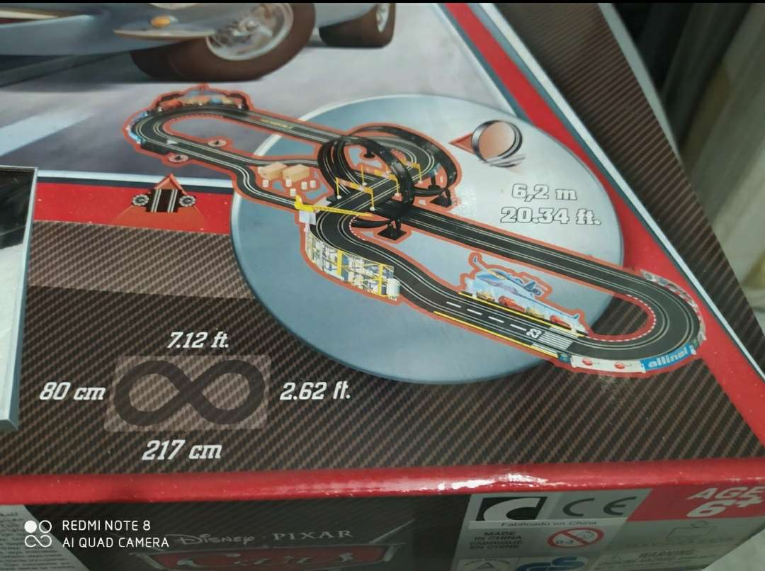 Imagen producto Scalextric CARS 6,2 m 2