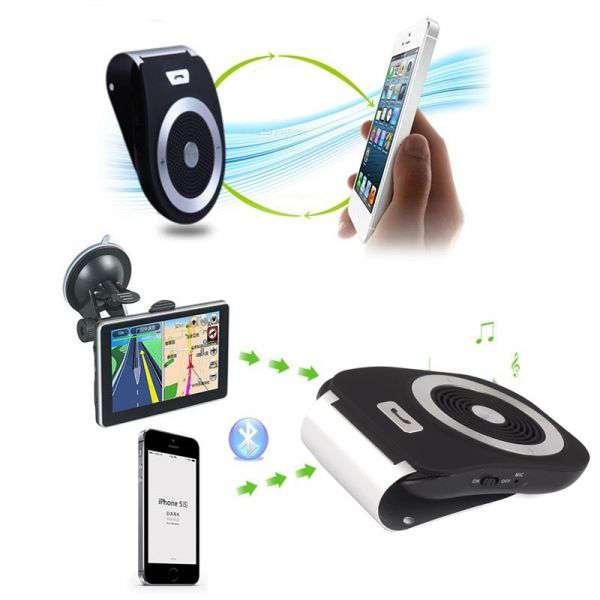 Imagen producto Manos libres bluetooth para llamadas en el coche tiene voz para el GPS 4