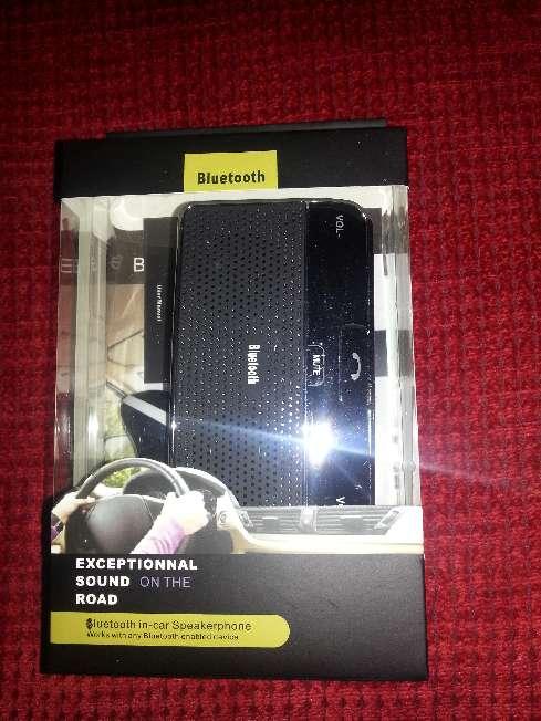 Imagen producto Manos libres bluetooth para llamadas en el coche dos altavoces 3