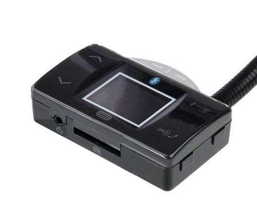 Imagen producto Manos libres bluetooth para llamadas en el coche dos piezas FM transmiter 4