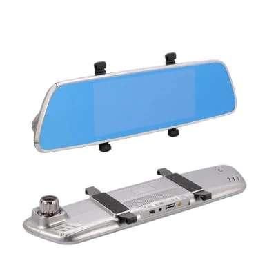 Imagen producto Navegador GPS en espejo retrovisor con internet dos camaras y manos libres para llamadas en el coche 2