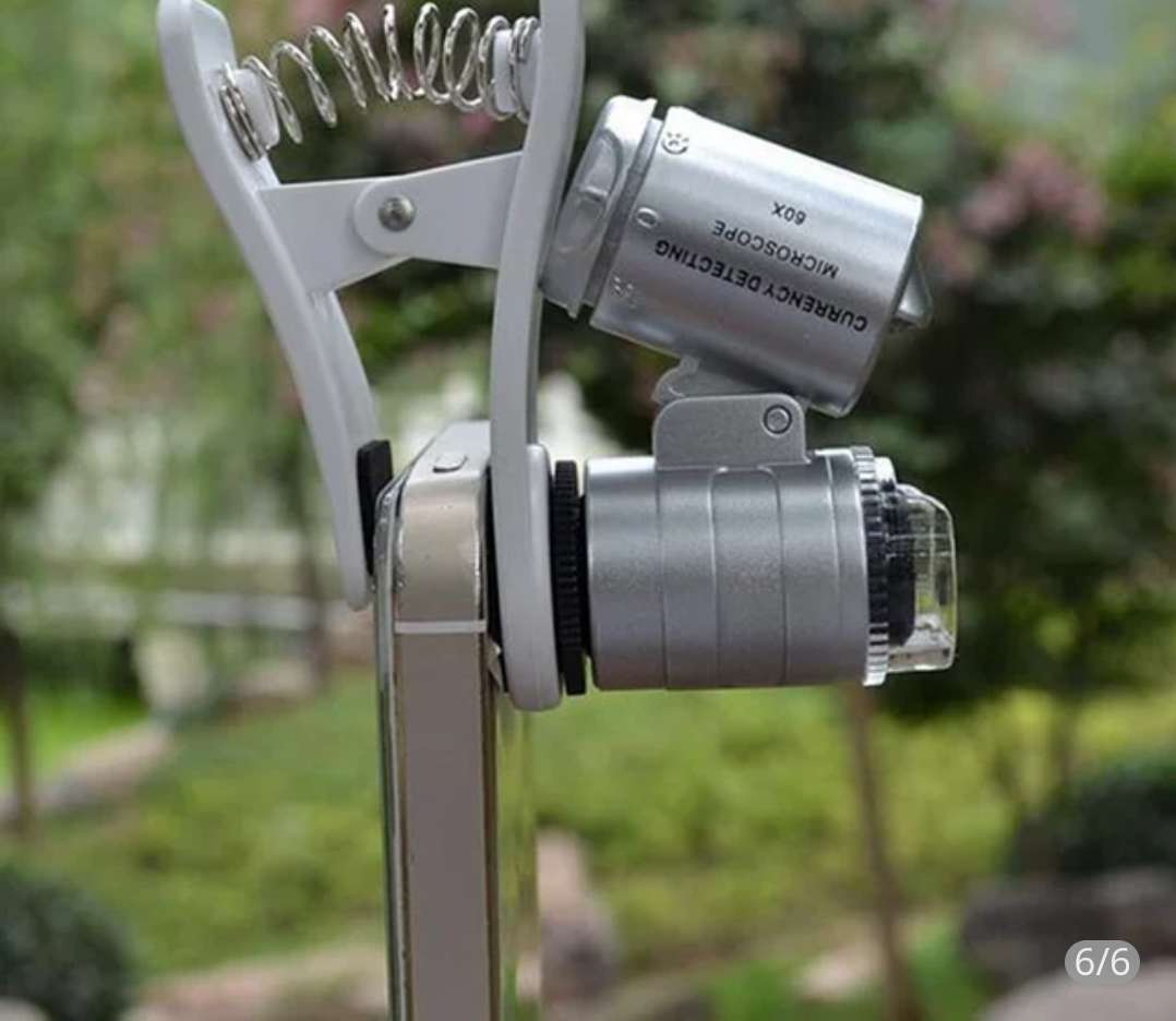Imagen producto Microscooio de bolsillo 60x para telefonos 4