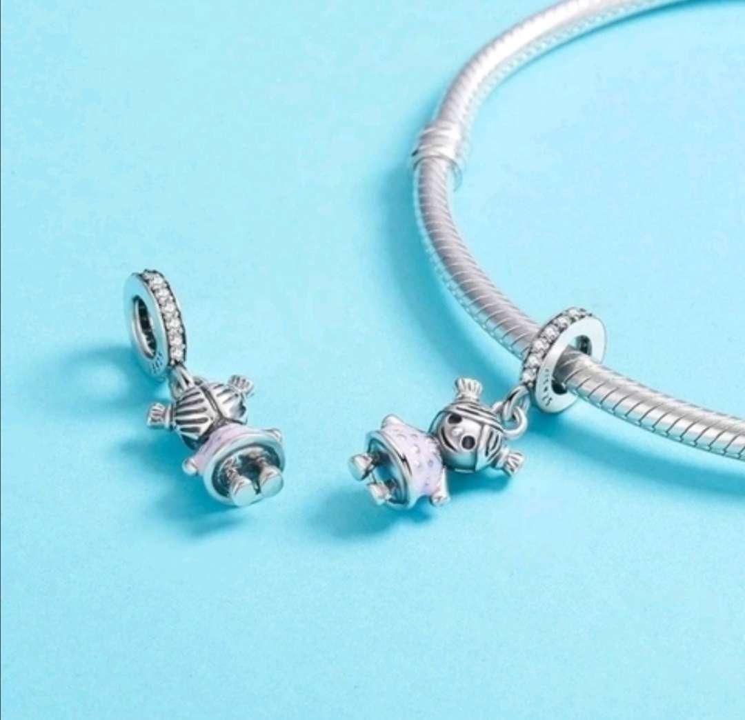 Imagen producto Charms - abalorios Niño Niña para pulsera de Pandora  3