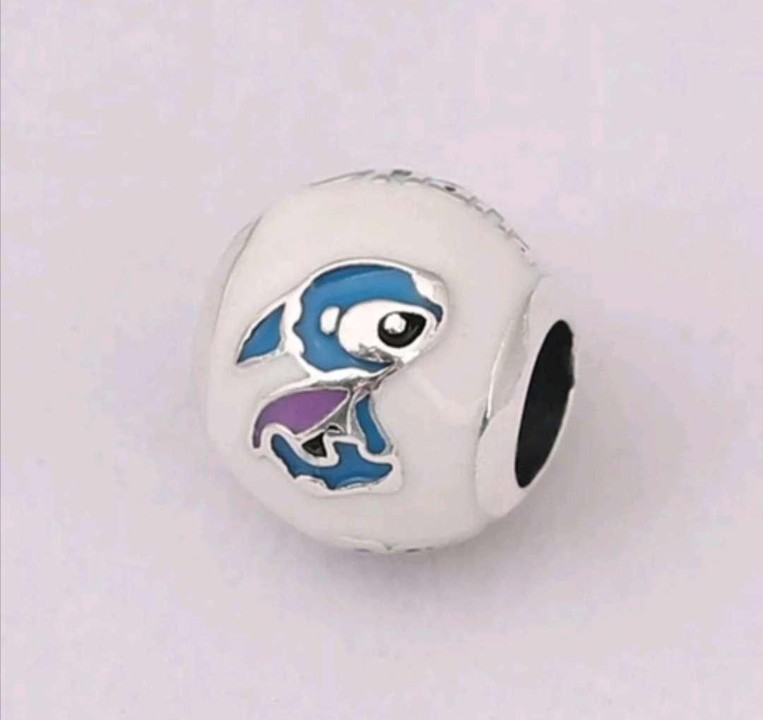 Imagen Charms - abalorio Lilo Stitch Ohana para pulsera de Pandora de Plata 925