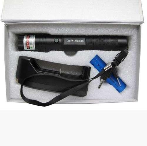 Imagen producto Puntero laser con zoom de 300 miliwatios con bateria recargable y llave de seguridad color verde 1