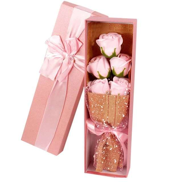 Imagen producto 5Piezas De Jabón Con Forma De Rosa 5
