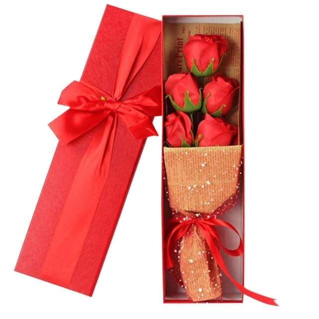 Imagen producto 5Piezas De Jabón Con Forma De Rosa 3