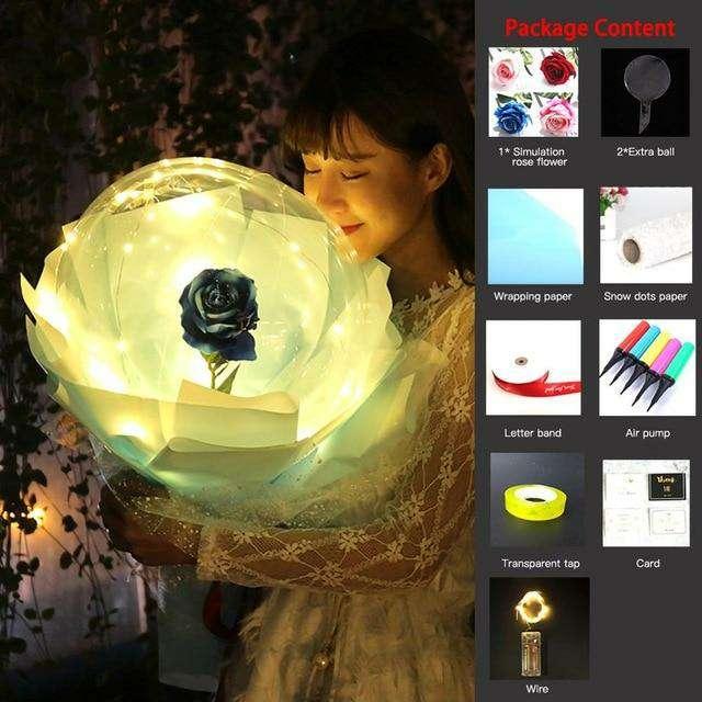 Imagen producto Globo Transparente Luminoso De Rosas 3