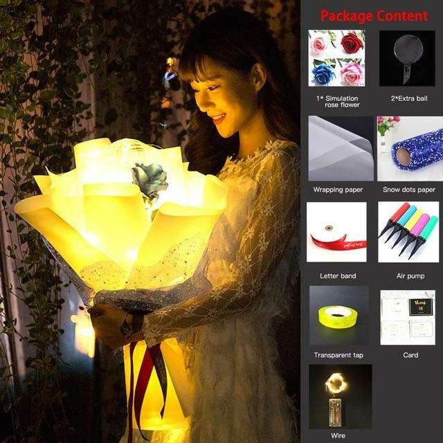 Imagen producto Globo Transparente Luminoso De Rosas 6