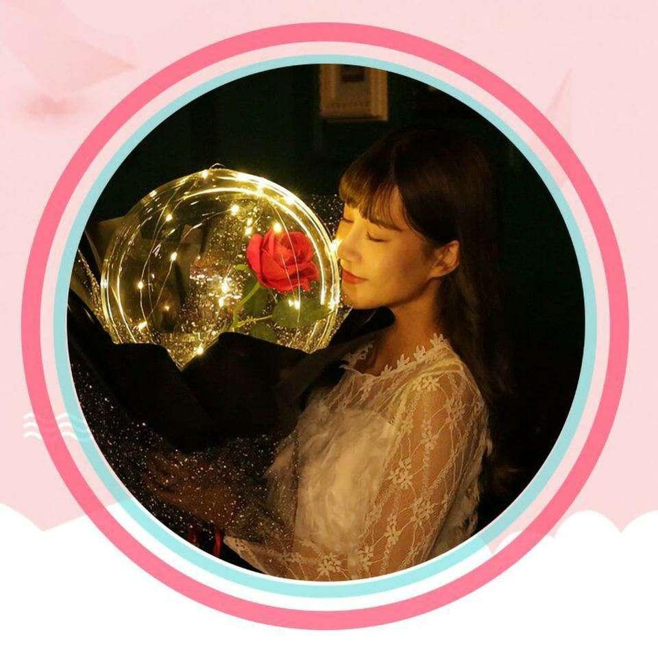 Imagen producto Globo Transparente Luminoso De Rosas 7