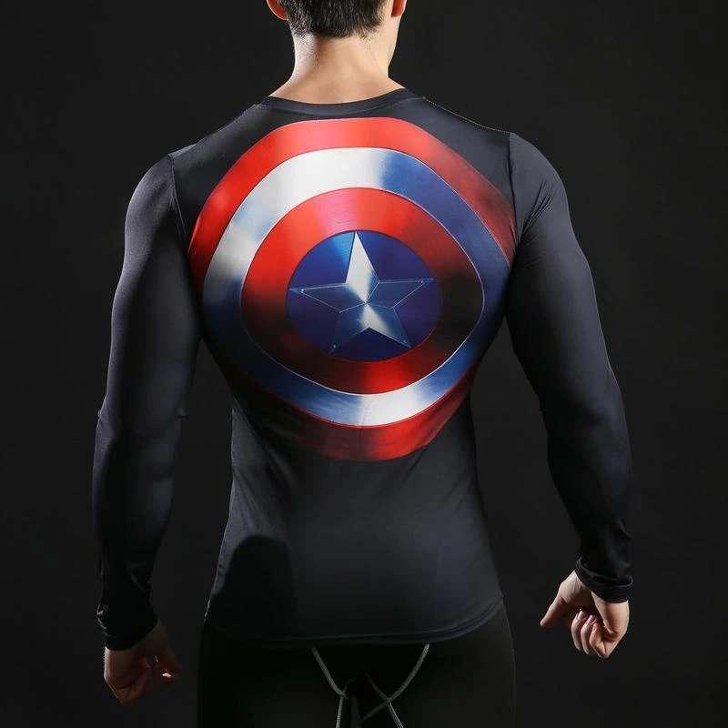 Imagen producto Camisetas De Manga Larga Ajustables De Superheroes 6