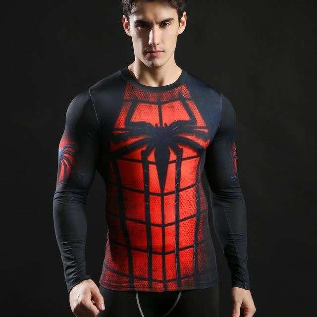 Imagen producto Camisetas De Manga Larga Ajustables De Superheroes 5