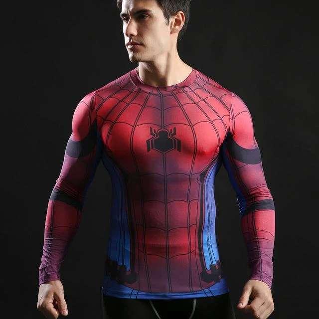 Imagen producto Camisetas De Manga Larga Ajustables De Superheroes 9