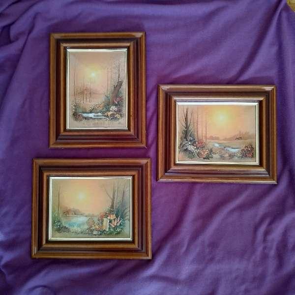Imagen Juego de tres cuadros.