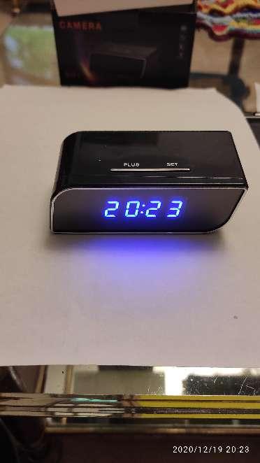 Imagen producto Camara espia IP wifi en reloj de sobremesa 4