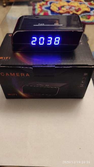 Imagen producto Camara espia IP wifi en reloj de sobremesa 3
