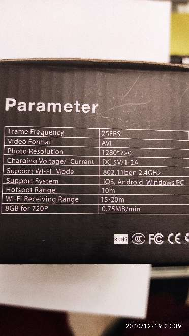 Imagen producto Camara espia IP wifi en reloj de sobremesa 2