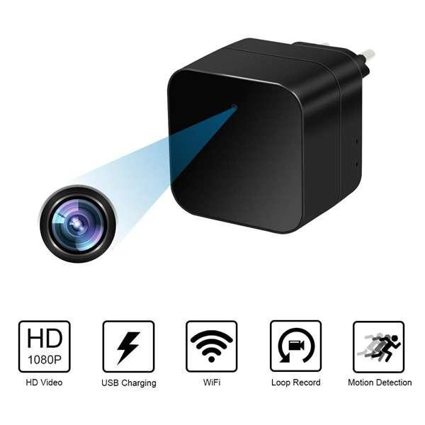Imagen producto Camara espia IP wifi en cargador con alarma 5