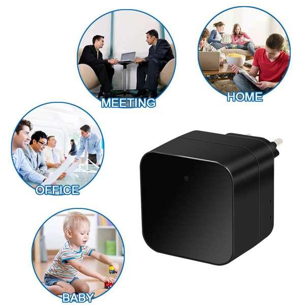 Imagen producto Camara espia IP wifi en cargador con alarma 2
