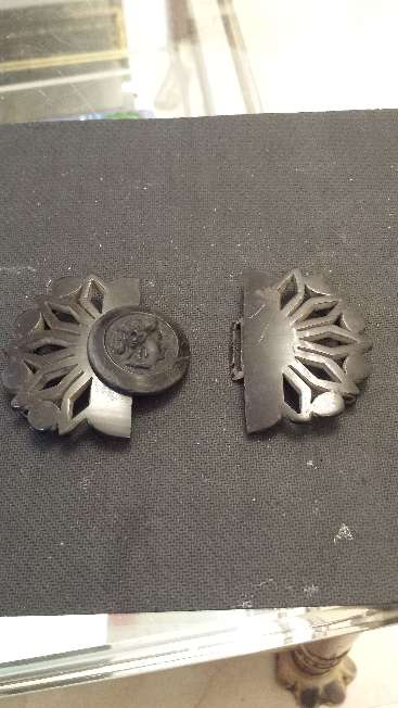 Imagen producto Hebilla para cinturon de bakelita muy antigua y exclusiva 2