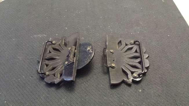 Imagen producto Hebilla para cinturon de bakelita muy antigua y exclusiva 3