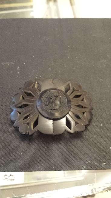 Imagen producto Hebilla para cinturon de bakelita muy antigua y exclusiva 4