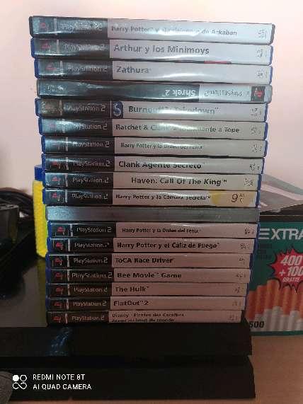 Imagen PS2+2targeta+40 juegos+2 mandos