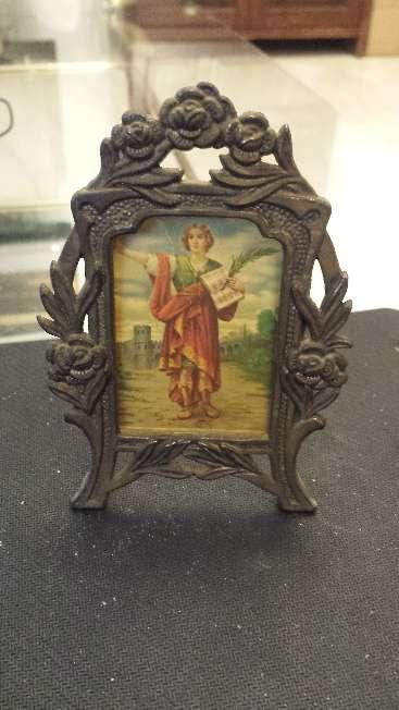 Imagen Plato viejo Inmaculada en peana de marmol y San Pancracio robado 3 piezas