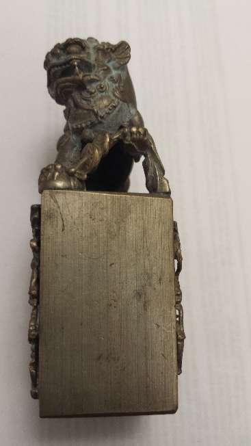 Imagen producto Leones de Foo pareja de miniaturas en bronce 8