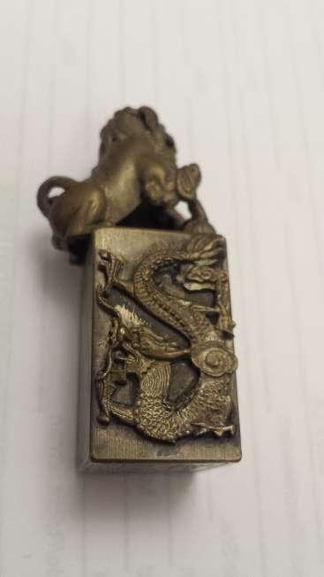 Imagen producto Leones de Foo pareja de miniaturas en bronce 9