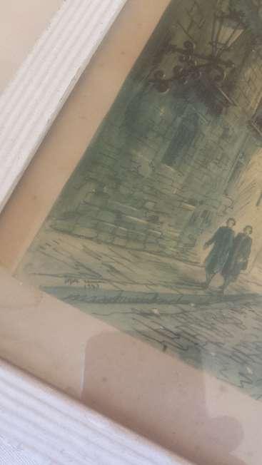 Imagen producto Litografias moldura dorada lamina virgen Cinco piezas 6