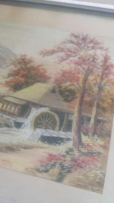 Imagen producto Cuadro bordado en seda 50 años de antiguedad 2