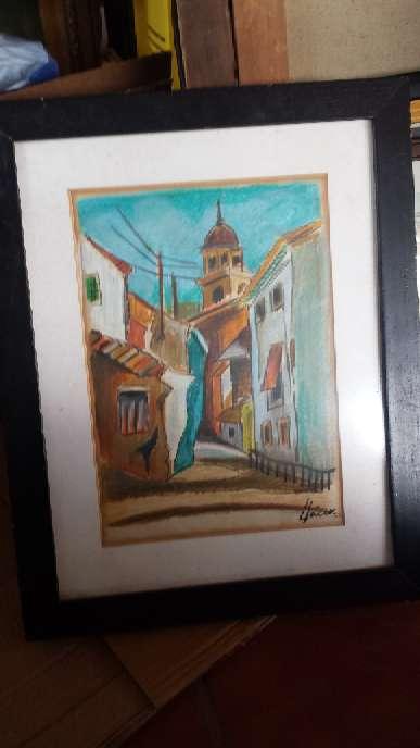 Imagen Cuadro al pastel de la pintora Teresa LLacer