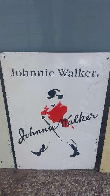 Imagen Cuadro Vintage de chapa pintada 45x29 Johnnie Walker