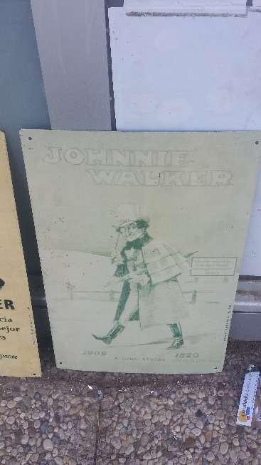Imagen Chapa publicitaria Vintage 46x30 cms. Johnnie Walker