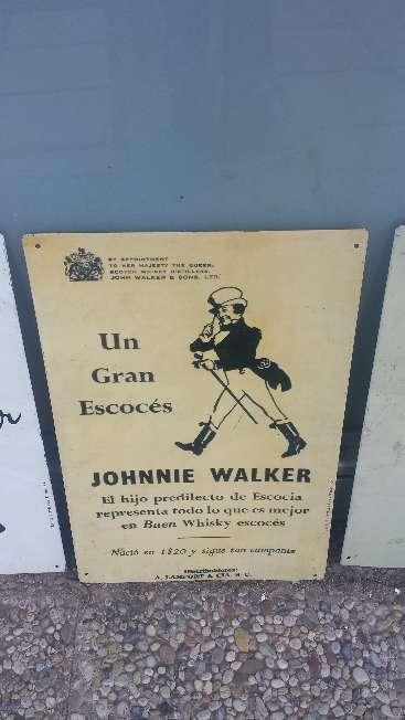Imagen Cuadro de chapa Vintage Un Gran Escoces Whisky Johnnie Walker